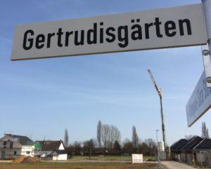 Gertrudisgärten - Unsere Straße hat endlich einen Namen