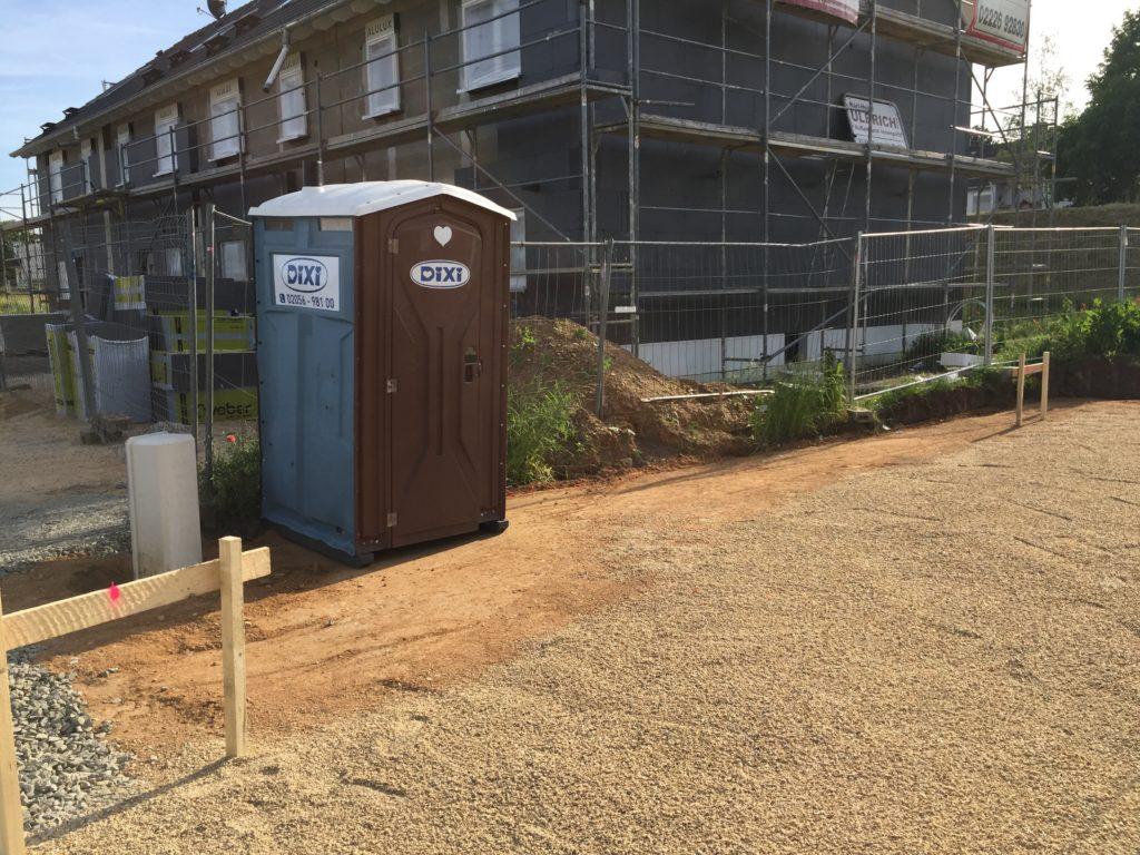 Toilette für die Bauarbeiter