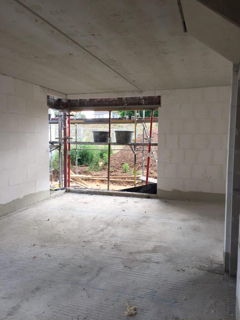 Eckfenster im Erdgeschoss