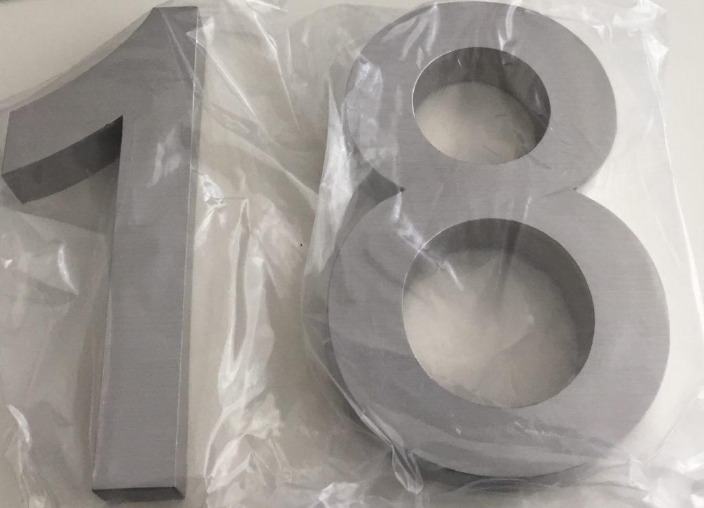 3D Hausnummer über Amazon gekauft