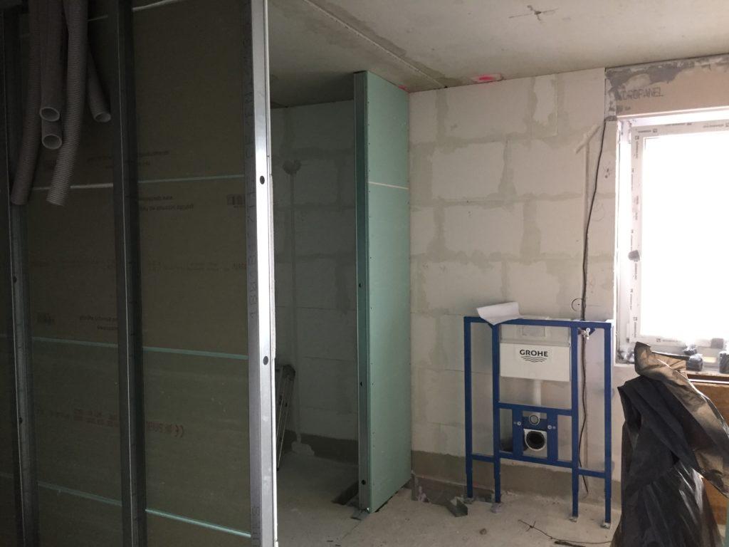Duschnische und Saunabereich