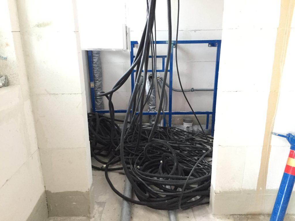 Zuleitungen für das Obergeschoss