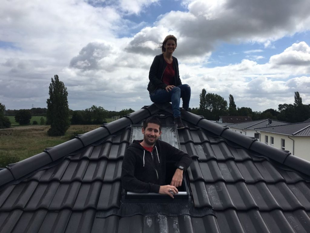 Auf dem Dach ist es auch mal ganz schön :)
