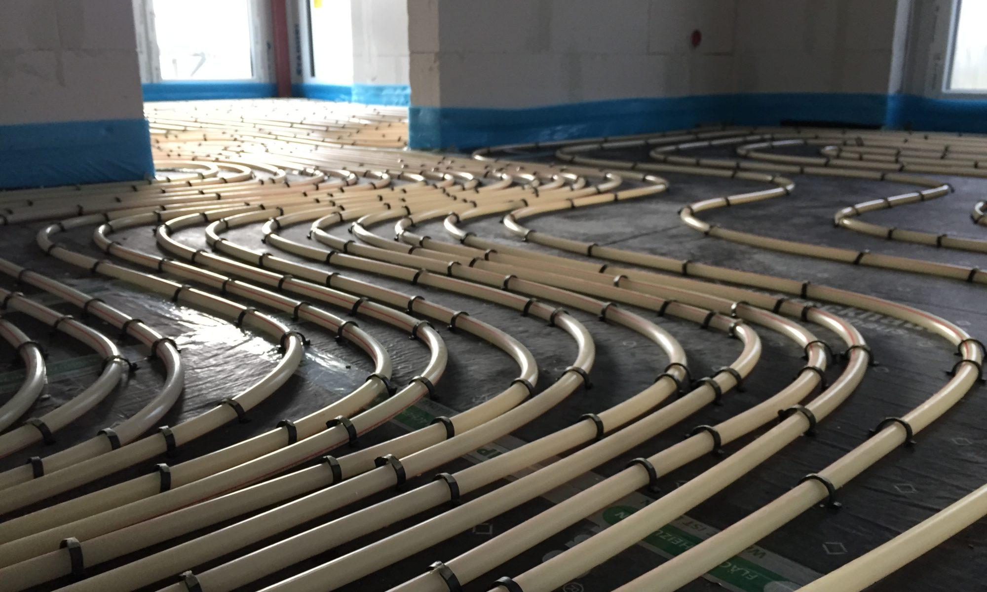 Fußbodenheizung wurde verlegt