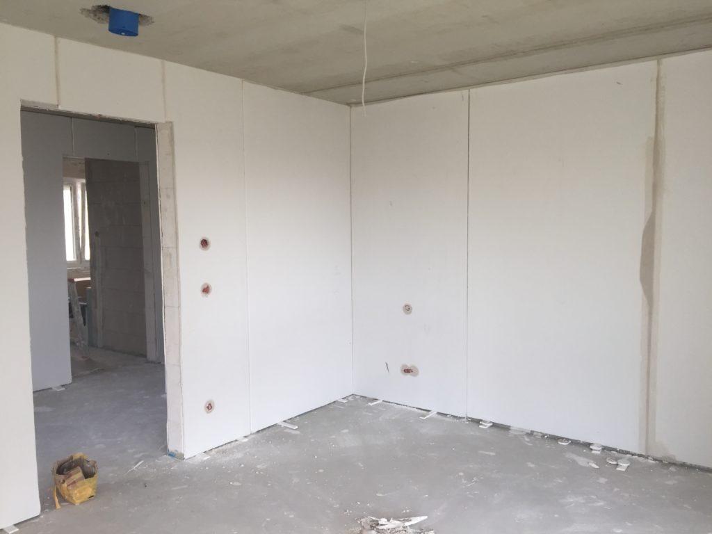 Wände sind verputzt