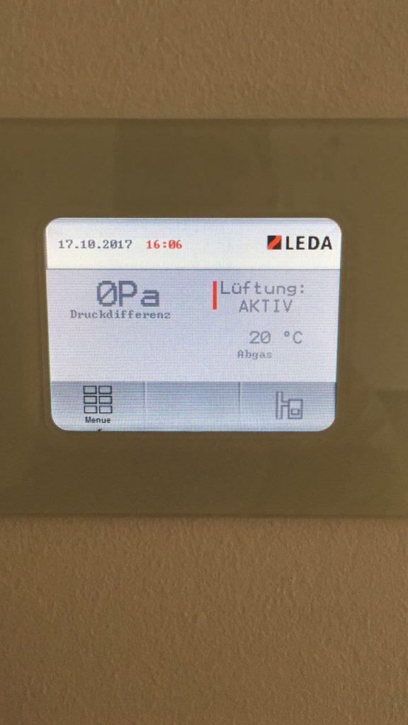 LEDA Unterdruckwächter für Kamin